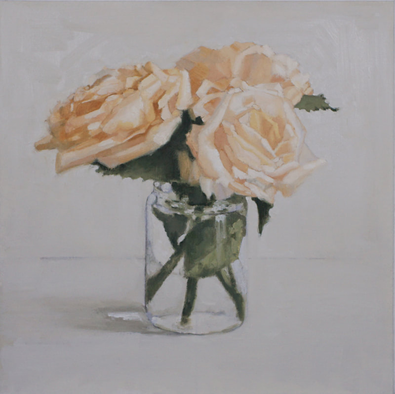 Still life oil painting, Roses, by Nicole Lamothe, Florida artist