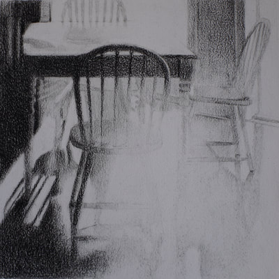 Still life charcoal drawing by Nicole Lamothe, Apollo Beach, Florida artist