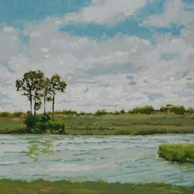 Landscape oil painting by Nicole Lamothe, Apollo Beach, FL